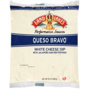Land O Lakes Queso Bravo White Cheese Dip with Jalapeno and Red Peppers, 2 Pound -- 12 per case