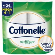 Cottonelle Ultra Gentlecare Toilet Paper Roll, 2040 count per pack -- 6 per case.