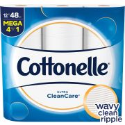 Cottonelle Ultra Cleancare Toilet Paper Roll, 4080 count per pack -- 4 per case.
