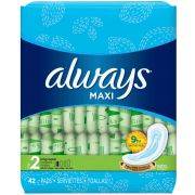 Always Non Wing Long Maxi Pad, 42 count per pack -- 6 per case