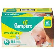 Pampers Swaddlers Size N Diaper -- 84 per case