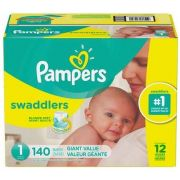 Pampers Swaddlers Size 1 Diaper -- 140 per case