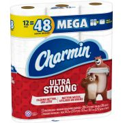 Charmin Ultra Strength Dry Toilet Paper, 12 rolls per pack -- 4 per case