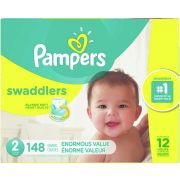 Pampers Size 2 Swaddlers Diaper -- 148 per case.