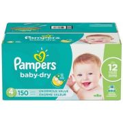 Pampers Enormous Size 4 Dry Baby Diaper -- 150 per case