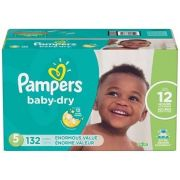 Pampers Enormous Size 5 Dry Baby Diaper -- 132 per case