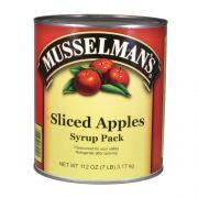 Knouse Foods Musselmans Sliced Apple in Syrup, 112 Ounce -- 6 per case.