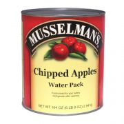Knouse Foods Musselmans Deluxe Chipped Apple, 104 Ounce -- 6 per case.