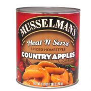 Musselmans Heat N Serve Spiced Homestyle Country Apples, 112 Ounce -- 6 per case.