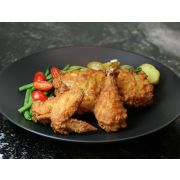 Brakebush Original Honey Touched Cooked Battered Dipt Chicken, 18 Ounce -- 9 per case.