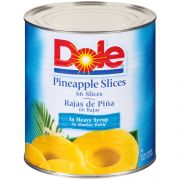Dole Pineapple Slices in Heavy Syrup, 108 Ounce -- 6 per case.