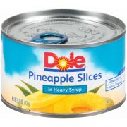 Dole Pineapple Sliced In Syrup, 8.249 Ounce -- 12 per case.