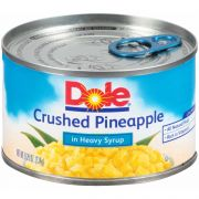 Dole Crushed Pineapple in Syrup, 8.249 Ounce -- 12 per case.