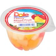 Dole Mixed Cherry Fruit in Juice, 4 Ounce -- 36 per case.