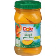 Dole Sliced Peaches In Fruit Juice, 23.5 Ounce Jar -- 8 per case.