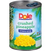 Dole Crushed Pineapple in Syrup, 20 Ounce -- 12 per case.