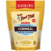 Bobs Red Mill Gluten Free Medium Grind Cornmeal, 24 Ounce Pouch -- 4 per case