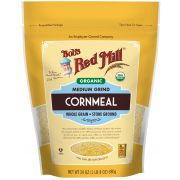 Bobs Red Mill Organic Medium Grind Cornmeal, 24 Ounce Pouch -- 4 per case