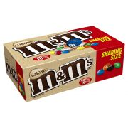 M and Ms King Size Almond Candy -- 108 per case.