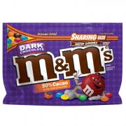 M and Ms Dark Chocolate Candy, 10.1 Ounce -- 8 per case.