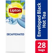 Lipton Decaffeinated Black Enveloped Hot Tea Bags, 28 count -- 6 per case