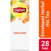 Lipton Hot Tea Bags Orange, 28 count -- 6 per case