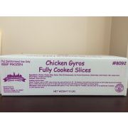 Devanco Fully Cooked Chicken Gyros Slices, 10 Pound -- 1 each.