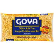 Goya Yellow Split Peas - 16 oz. bag,  24 bags per case