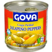 Goya Green Pickled Jalapeno Peppers - 11 oz. can, 12 cans per case