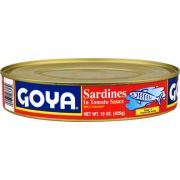Goya Oval Sardines in Tomato Sauce, 15 Ounce -- 24 per case.