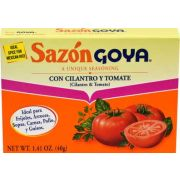 Goya Sazon with Tomato and Coriander - 1.41 oz. box, 36 per case