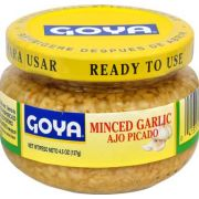 Goya Minced Garlic - 4.5 oz. jar, 12 per case.