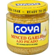 Goya Minced Garlic - 8 oz. jar, 12 per case