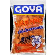 Goya Hot and Spicy Chicharrones, 3 Ounce -- 12 per case