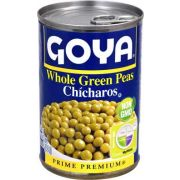 Goya Canned Whole Green Peas, 15.5 oz. bag, 24 bags per case