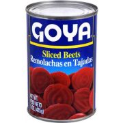 Goya Sliced Beets - 15 oz. can, 24 cans per case.