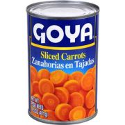 Goya Sliced Carrot - 14.5 oz. can, 24 cans per case