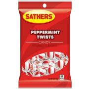 Sathers Peppermint Twists Candy, 5 Ounce -- 12 per case