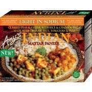 Amys Light in Sodium Indian Mattar Paneer, 10 Ounce -- 12 per case.