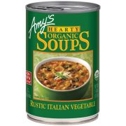Amys Organic Hearty Rustic Italian Vegetable Soup, 14 Ounce -- 12 per case.