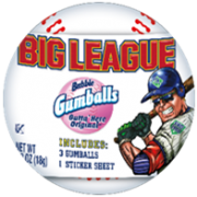 Big League Chew Baseball with Gumballs, 1 Ounce - 12 per pack -- 2 packs per case.