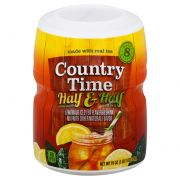 Country Time Half and Half Lemonade Iced Tea Drink Mix, 1.187 Pound -- 12 per case.