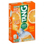 Tang On The Go Sugar Free Powdered Orange Soft Drink Mix, 0.77 Ounce -- 12 per case.