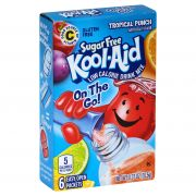 Kool Aid Tropical Punch Sugar Free On The Go Powdered Soft Drink, 0.37 Ounce -- 12 per case.