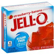 Jello Strawberry Banana Gelatin,  .3 Ounce -- 24 Case