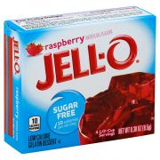 Jello Sugar Free Raspberry Gelatin,  .3 Ounce -- 24 Case