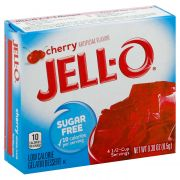 Jello Cherry Sugar Free Gelatin,  .3 Ounce -- 24 Case