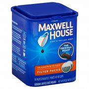 Maxwell House Gound Coffee - 10 filter packs per container, 12 containers per case