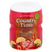 Kraft Country Time Lemonade Strawberry Fruit Flavored Beverage, 18 Ounce -- 12 per case.