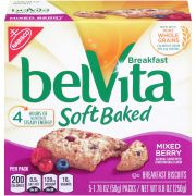 Nabisco Belvita Breakfast Soft Baked Cookies Mixed Berry, 1.76 Ounce -- 30 per case.